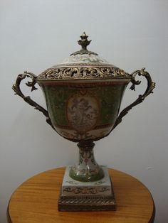 Large Decorative Urns With Lids Large Bronze Mounted Porcelain Cobalt Fragonard Courting Scenes 42