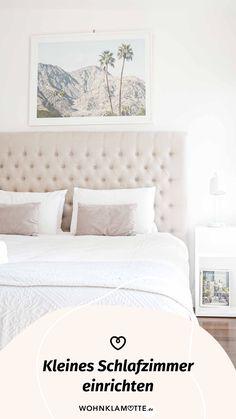 Das Schlafzimmer ist der wichtigste Raum in Deinem Zuhause, denn es ist Deine persönliche Ruheoase. In diesem Beitrag geben wir Dir deshalb hilfreiche Tipps, wie Du auch ein kleines Schlafzimmer einrichten kannst und dabei den Raum optimal ausnutzt. Contemporary Decor, Living Room Decor, Furniture, Home Decor, Living Room Ideas, Helpful Tips, Room Interior Design, Home Decor Accessories