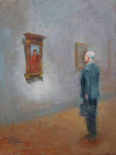Original People Painting by German Jaramillo-mckenzie Wood Canvas, Oil On Canvas, Canvas Art, Realism Art, Critic, Saatchi Art, Original Paintings, German, People