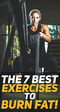Check out the 7 best exercises to burn fat! #fitness #fit #cardio #exercises #body #workout #fit #fitfam