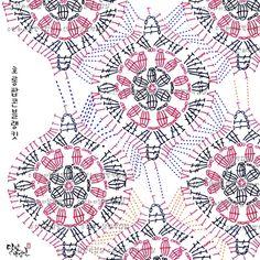 Crochet Bedspread Archives - Beautiful Crochet Patterns and Knitting Patterns Crochet Mandala Pattern, Crochet Motifs, Crochet Blocks, Granny Square Crochet Pattern, Crochet Diagram, Crochet Stitches Patterns, Crochet Chart, Crochet Squares, Crochet Designs
