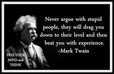 Mark Twain Quote About Stupid People