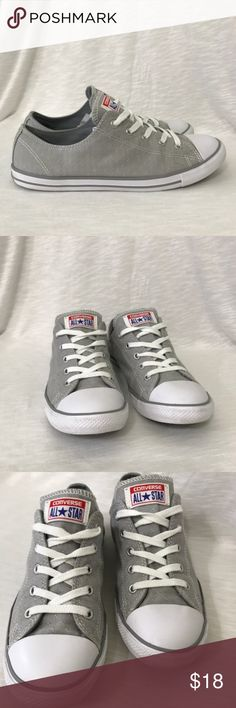 Ladies Cloud Grey Converse All Stars Sz. 9 Low Top Ladies Cloud Grey Converse All Stars Sz. 9 Low Top  Tiny embroidered micro dots throughout.   Shoes are in EUC with little to no visible wear.  All items are from a smoke free/hypoallergenic pet friendly home.   Feel free to ask any questions and Happy Shopping! Converse Shoes Sneakers