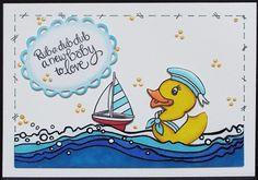 New Stampendous Rubber Duckies Clear Set. Julie Makela