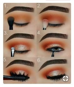 Makeup Tutorial: Orange and Gold Glam Eye Make-up Step for .- Makeup-Tutorial: Orange und Gold Glam Eye Make-up Schritt für Schritt Tutorial Makeup Tutorial: Orange and Gold Glam Eye Makeup Step by Step Tutorial, …, up - Eye Makeup Remover, Skin Makeup, Makeup Eyeshadow, Eyeshadows, Gold Makeup, Eyeshadow Makeup Tutorial, Eyeliner Pen, Makeup Cosmetics, Make Up Gold
