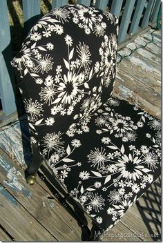 upholstered cane back chair - for those 3 chairs I have floating around the house with broken cane seats?