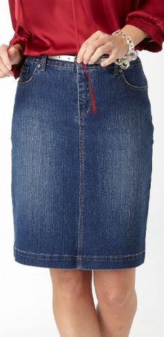 Misses Gloria Vanderbilt Amanda Dazzle Denim Skirt $22.80