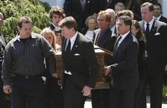Mary Kennedy's casket is carried out of St. Patrick's Church by family, including her estranged husband Robert F. Kennedy Jr., after her funeral service in Bedford, N.Y., on Saturday, May 19, 2012.