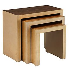 Z Gallerie - Astair Nesting Tables - Gold. I love them and will find a way to re-create them for less than a million dollars.