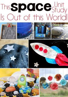 Kids will love this exciting Space Unit Study! Outer Space activities for science, math, STEM, literacy, sensory and more!!  via @lifeovercs