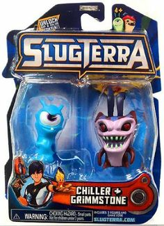 Amazon.com: Slugterra SERIES 2 Mini Figure 2-Pack Chiller & Grimmstone [Includes Code for Exclusive Game Items]: Toys & Games