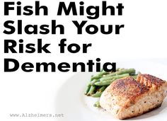 Research shows that fatty acids can slow Alzheimer's. Learn more about fatty acids in fish, and how it might slash your risk for dementia. Dealing With Dementia, Alzheimer's And Dementia, Foods That Help Memory, Dementia Awareness, Fatty Fish, Alzheimers, Green Beans, Healthy Lifestyle, Healthy Living