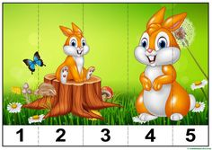 puzzles infantiles para aprender los números-2 Fun Classroom Activities, Animal Activities, Montessori Activities, Kindergarten Activities, Infant Activities, Activities For Kids, Numbers Preschool, Preschool Crafts, Crafts For Kids