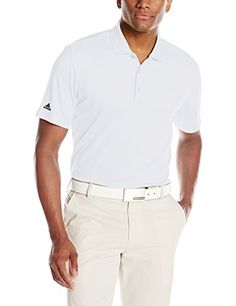 adidas Golf Mens Performance Polo Shirt White XLarge *** Learn more by visiting the image link. Note:It is Affiliate Link to Amazon.