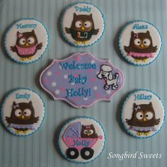 gallery of 'songbird sweets' cookies   Owl Family