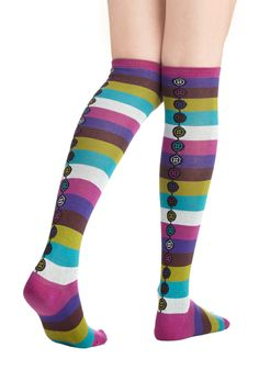 The Fun for Me Socks   Mod Retro Vintage Socks   ModCloth.com