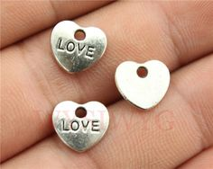 WYSIWYG 30pcs/lot 9*10mm antique silver plated love heart charms-in Charms from Jewelry on Aliexpress.com | Alibaba Group