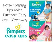 Potty Training Tips With Pampers Easy Ups + Giveaway #PampersEasyUps Pampers #ad