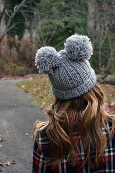 Add some fun and complete your #WinterStyle with a cute double pom-pom beanie!