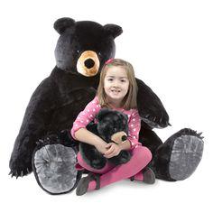 Black Bear and Cub Jumbo Stuffed Animal | All Giant Stuffed Animals | Melissa and Doug