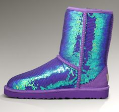 High Quality UGG Australia Rainbow Sequins Sparkle Boots 3511 - Purple
