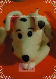 Dálmata de Biscuit 001 - Loja de mannuartes