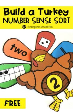 Build a Turkey Number Sense Activity Build a Turkey with this free printable Number Sense Activity Sort. It's perfect for subitizing and building number sense in Kindergarten and PreK! Thanksgiving Activities For Kids, Thanksgiving Preschool, Fall Preschool, Preschool Math, Thanksgiving Turkey, Math Math, Math Literacy, Math Fractions, Maths