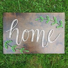 Home string art by SeasonOfSeeking on Etsy https://www.etsy.com/listing/250820904/home-string-art