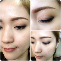 Bronzer&black eyes makeup for daily working without false eyelashes!