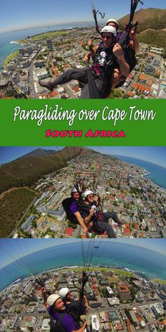 Safe and Sound – Paragliding over Cape Town, South Africa  #Capetown #southafrica