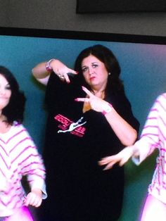Abby Lee Miller throwing up the deuces