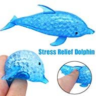 WFFO Slow Rising Squishy Toy, Spongy Dolphin Bead Stress Ball Toy Squeezable Squishies Toy Stress Relief Toy or Kids Party Toys Stress Reliever Toy (Blue) Dolphin Party, Sensory Tools, Stress Relief Toys, Fidget Toys, Squishies, Stress Management, Toy Store, How To Relieve Stress, Learning Activities