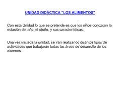 """Unidad Didáctica """"El otoño"""""""