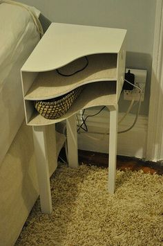 Ikea hack: end tables for the living room. Wish I could find instructions for this Ikea hack.