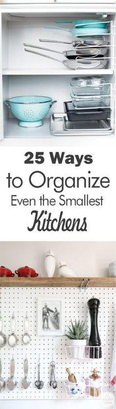 25 Ways to Organize Even the Smallest Kitchens - 101 Days of Organization