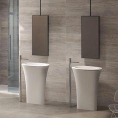 Ovale freestanding washbasin Cubika - Wash basin colored bathroom Ceramica Cielo