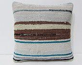 cream decorative pillow white throw pillow brown kilim pillow design interior pillow cover embroidery pillow case couch pillow case 23562
