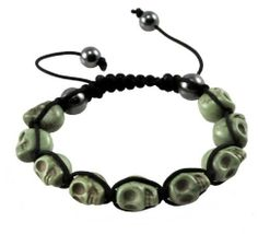 Tibetan Prayer Beads Green Skull Bracelet, Skull Beads, Skull Prayer Beads Wrist Mala Shamballa Bracelet Hinky Imports. $9.99. Shamballa Bracelet-Protects You from Evil Spirits. Handmade in Nepal. Bead Size: 12mm. Made from Magnesite (Dyed) Gemstone Beads. Adjustable Size: One Size Fits All