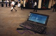 'Sony Laptop' 3D Street Art                                                                                    |AmazingStreetArt|