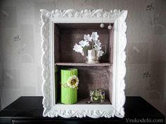 Картина + полка + вазочка / Декор, Плетение из газет / В рукоделии
