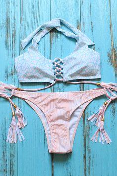 This is summer necessity! #bikini #halter #swimsuit