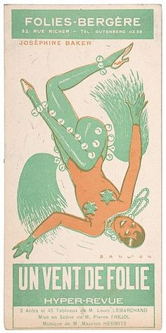 Josephine Baker ad. Love that green shade!