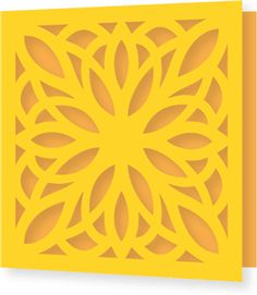 Silhouette Online Store: flourish lace decoration single fold square card