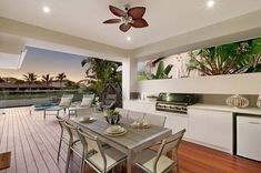Outdoor Dining and Kitchen  Waterfront Property in Broadbeach Waters, QLD