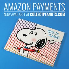 New in our shop at CollectPeanuts.com! You can pay for your Snoopy and Peanuts collectibles with Amazon Payments. Learn more at CollectPeanuts.com.