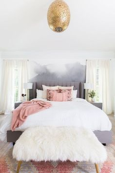 Glam Bedroom, Room Ideas Bedroom, Cozy Bedroom, Bedroom Apartment, Home Decor Bedroom, Modern Bedroom, Contemporary Bedroom, Bedroom Designs, Bed Room