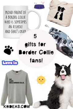 Attention Border Collie Lovers!  I've put together the quirkiest, loveliest & simply cutest Border Collie gift ideas.   We all know that with a smart Border Collie, you have much more than just a pet in your household. So, no matter whether you're looking to treat yourself, or your partner, or a friend or colleague with a Border Collie, in this gift guide you'll find something for everyone <3 Mountain Dogs, Bernese Mountain, Cute Borders, Adoptable Beagle, Teacup Chihuahua, Labrador Retriever Dog, Bull Terrier Dog, Dog Training Tips, Dog Art