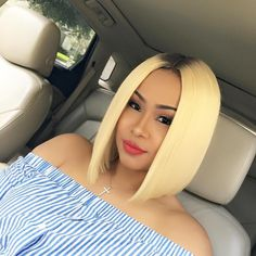 ✨Blonde bob for this bombshell @infamous__aicha Makeup by: @lusciouslana04 ✨ #tampahairstylist #tampastylist #atlantahairstylist #atlantahair #thecutlife #thechoppedmob #theboblyfe #blonde