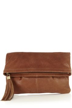 Cloverlly Leather Cross Body Clutch Bag | Natural | Oasis Stores