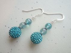 Aqua Aura with Sparkly Swarovski Pave Bead and by OldeTowneJewelry, $23.00